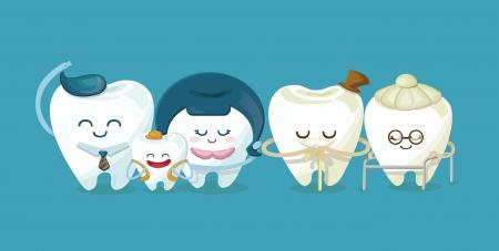 Familia dental Foto de archivo - 24561862