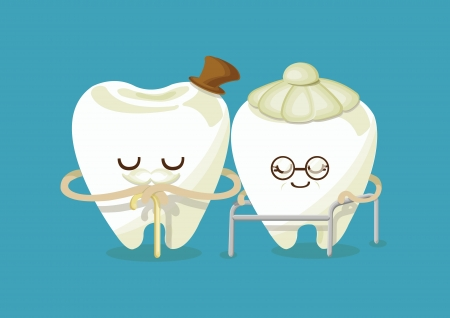 oral cavity: happy older tooth
