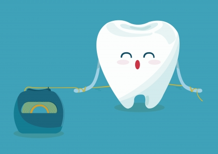 floss tooth Ilustrace