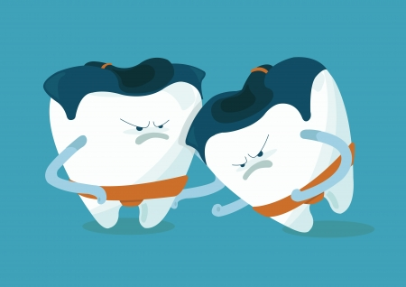 chipped: sumo of chipped a tooth Illustration
