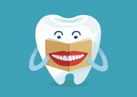 Lesen Lächeln Tooth-Magazin Standard-Bild - 26622087