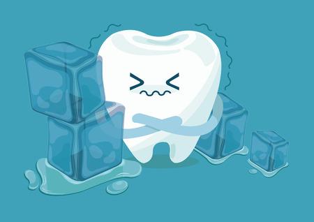 Tand is zo gevoelig voor kou Stock Illustratie