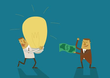 Business man have a big idea for money Vector