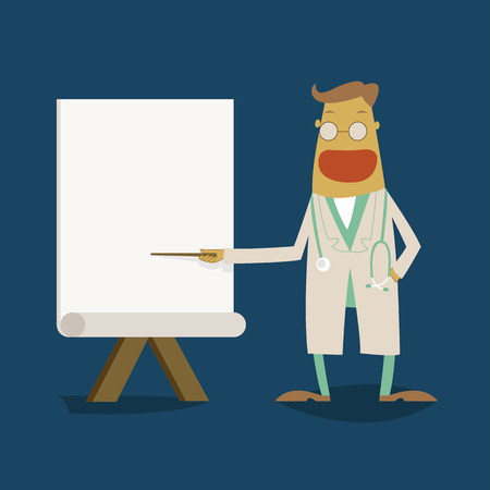flipchart: Doctor point to whiteboard