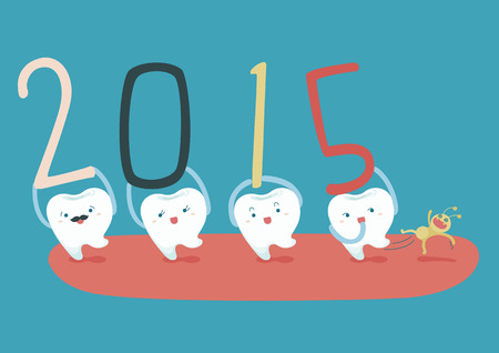 Happy new years of dental 免版税图像 - 33998568