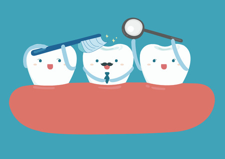 dientes caricatura: Estrella de buen diente buscando