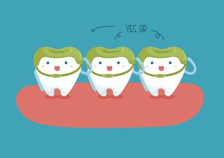 soldier teeth of dental