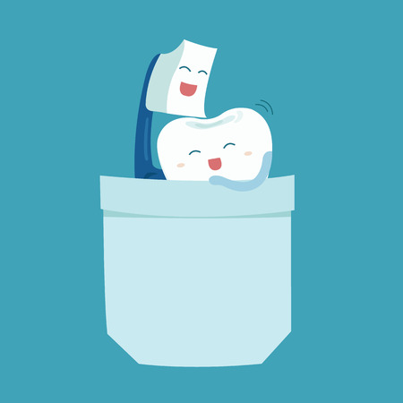 brushing teeth: toothbrush and tooth sweet love
