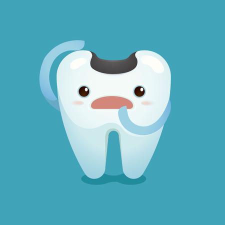 dientes sucios: Caries infeliz