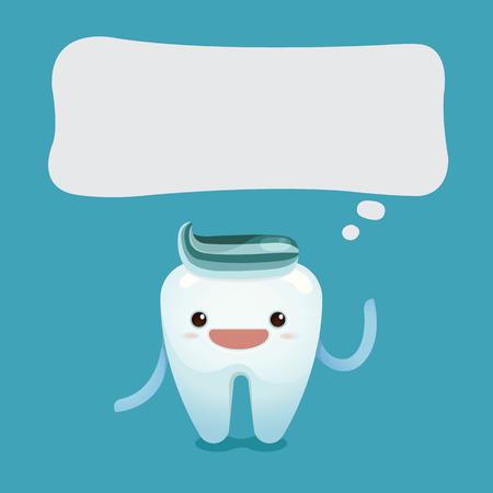 歯の少年が何かを言う