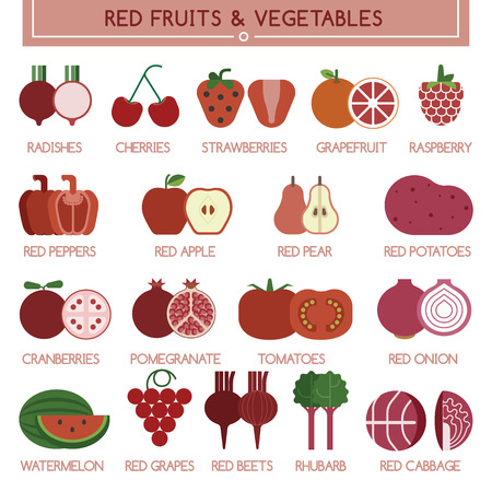 rhubarb: Red fruits and vegetables Illustration