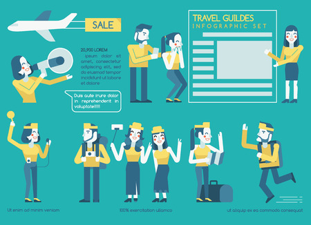 guides: Travel guides Infographics set