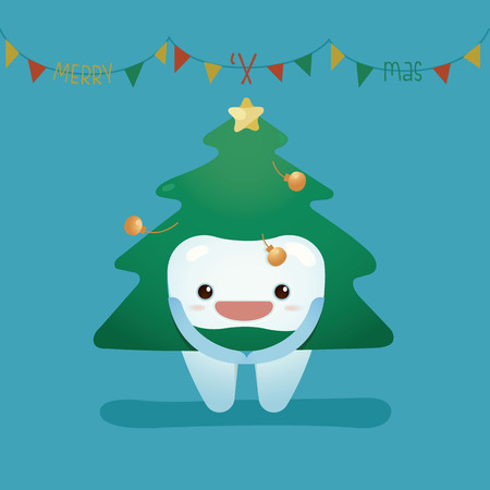 funny christmas: Tooth wear christmas suite
