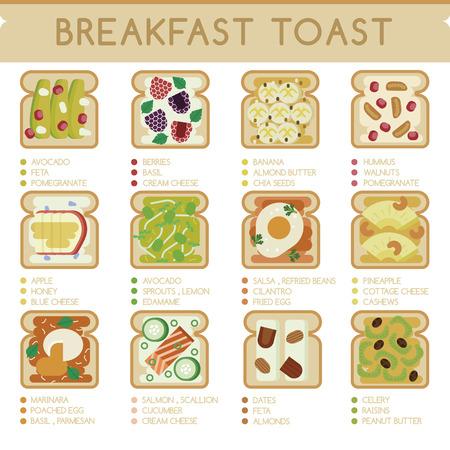 cashews: Breakfast Toast Illustration