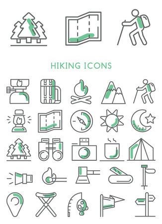 ベクトルを設定アイコンをハイキング