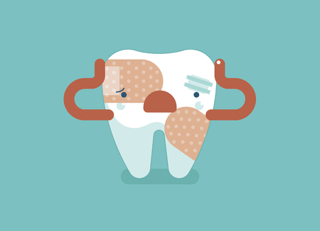 uncomfortable: Toothache ,dental concept