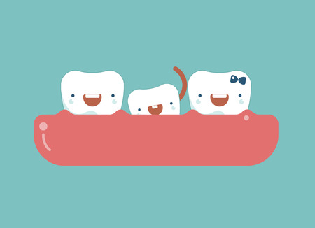 Milk Tooth,dentist and tooth