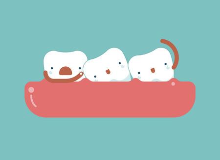 crooked teeth: Crooked teeth ,dental concept Illustration