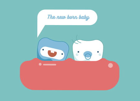new born: New born baby,Dental concept