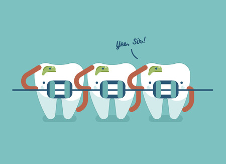 2,209 Teeth Braces Stock Vector Illustration And Royalty Free ...
