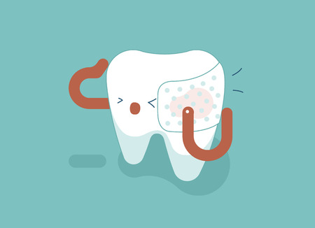 Toothache of dental concept