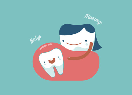 baby tooth: Baby tooth and Mommy tooth of Mother dental