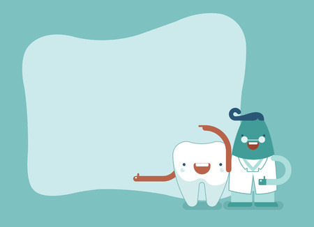 communication occupation: Background of dental,tooth and dentist set Illustration