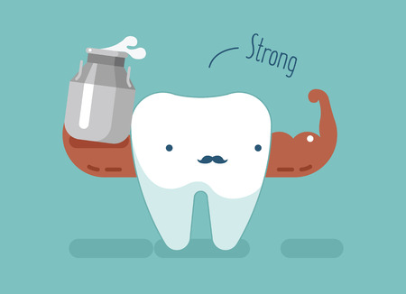 Strong tooth ,dental concept