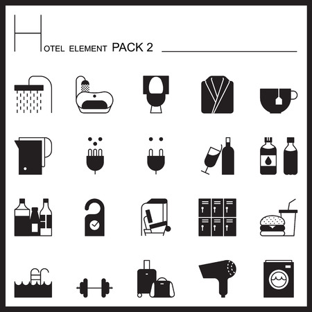 flush toilet: Airport Element Garph Icon Set 2.Mono pack. Pictogram design.