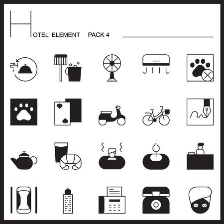 Airport Element Line Icon Set 4.Mono pack.Pictogram design. Illustration