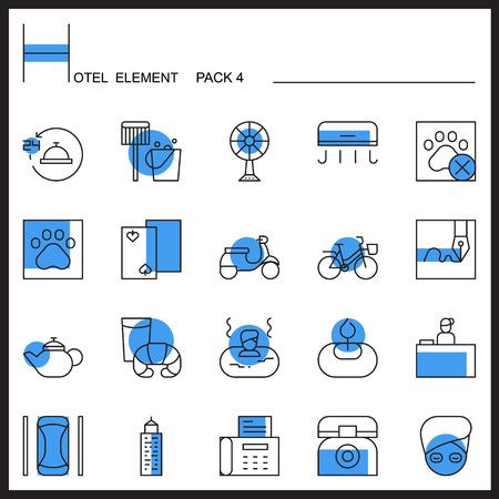 Airport Element Line Icon Set 4.Color pack.Graphic vector logo set.Pictogram design. Illustration