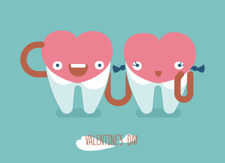 beauty smile: Happy valentines day of dental