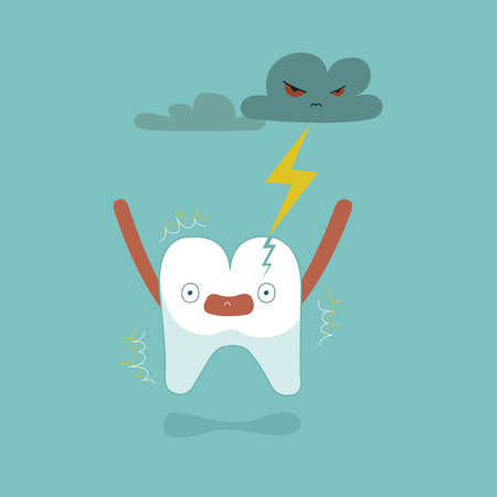 Tooth was lightning made it broken ,teeth and tooth concept of dental