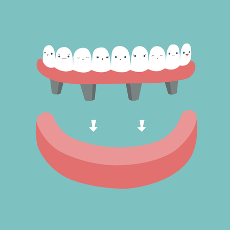 Dentures ,teeth and tooth concept of dental