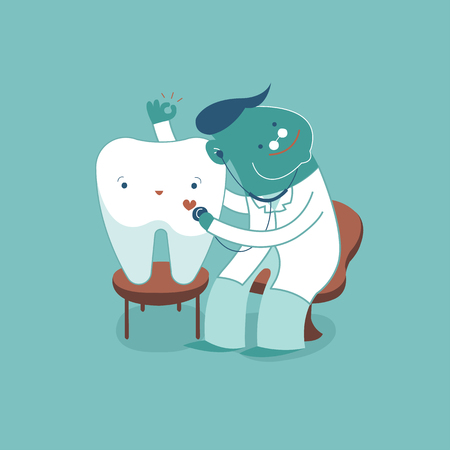 Dentist check up tooth for good healthy, dental concept.
