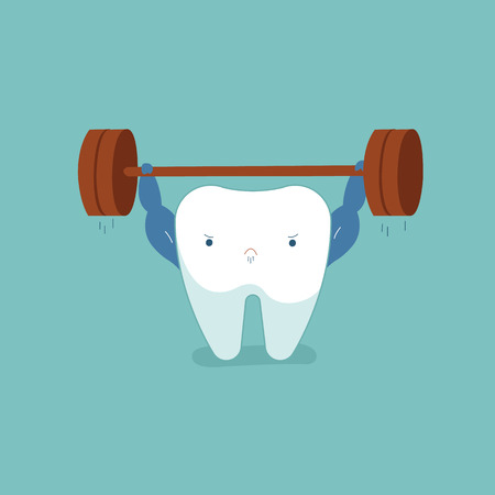 Tooth workout for good healthy dental.