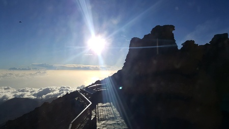 Sunshine over the clouds at Pico del Teide Tenerife