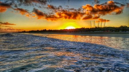Sunrise on the beach of Varadero Cuba