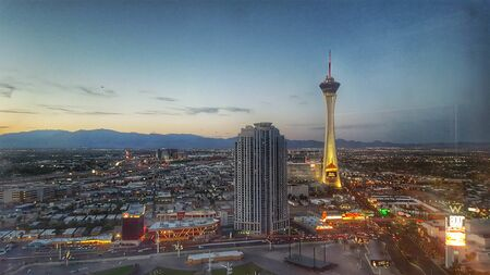 Stratosphere Tower Las Vegas at night