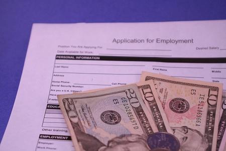 Job Application Form Blue Background