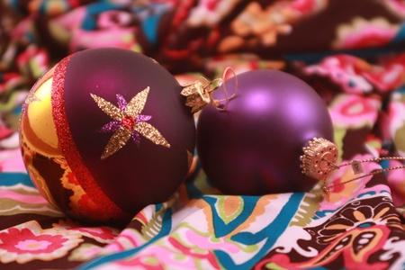 Purple Metallic Christmas Ornaments Stock Photo - 8434853