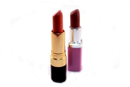 Tubes of Lipstick Isolated on White