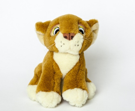 Stuffed animal on a white background photo