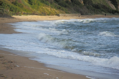 onshore: onshore waves
