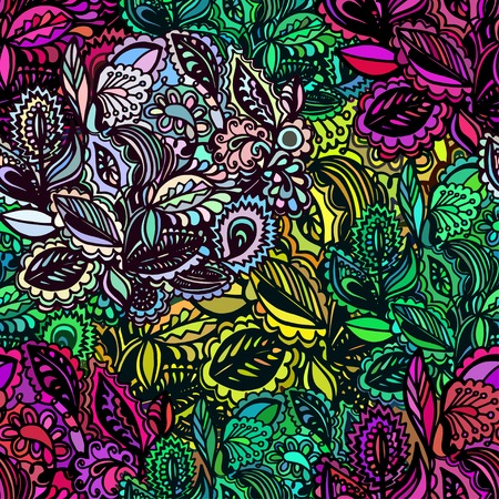 background with colorful leaves and flowers