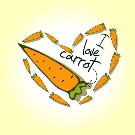 halm: Illustrations, Print I love carrots Illustration