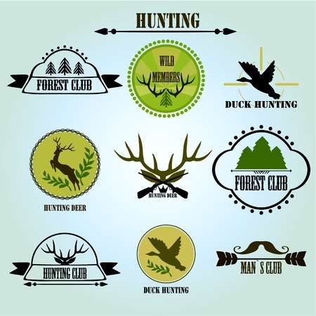 Hunting club label collecton. Vector. Vector