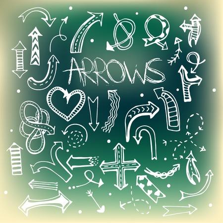 simplistic icon: Arrow icon set.