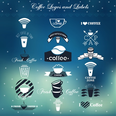 Coffee logos and labels. Vector