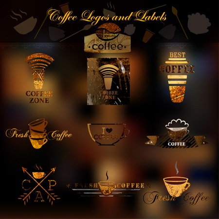 Coffee logos and labels. Vector. Vector